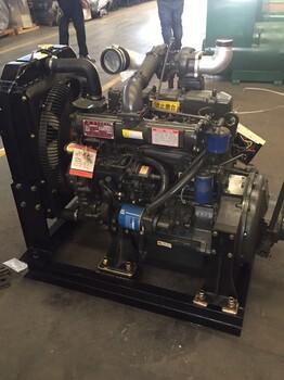潍坊R4105增压柴油机2000转60千瓦柴油机带离合器84马力R4105ZP