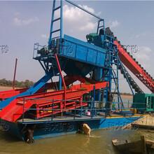 水套式河道淘金船小型河道采金船挖沙淘金船