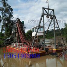 河道抽沙采金船链斗淘金船挖沙淘金设备