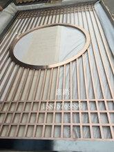 紅古銅滿焊不銹鋼花格屏風隔斷廠家