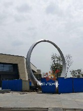 大型城市廣場圓環不銹鋼雕塑擺件藝術完美體現