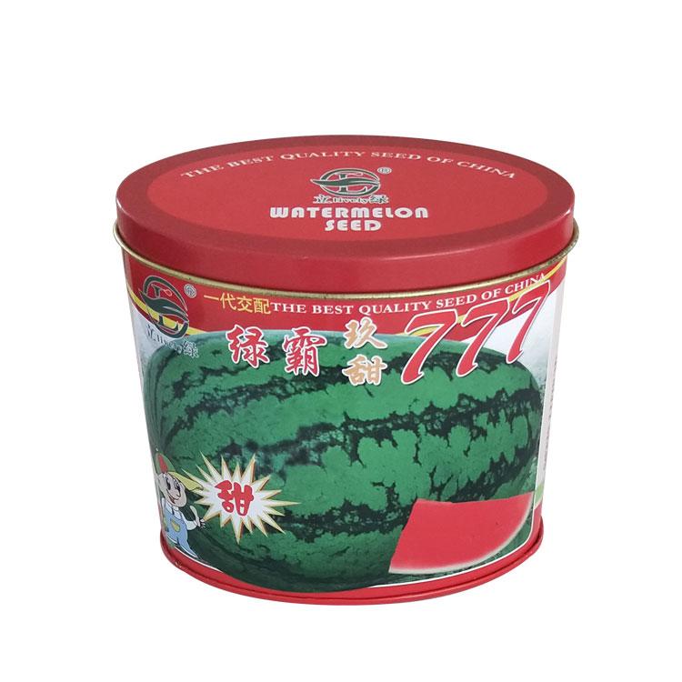 橢圓形鐵罐西瓜種子盒瓜類種子包裝盒定制