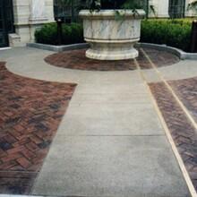 压印混凝土颜色不褪色,枫彩建材路面耐磨性强图片