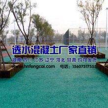 云南迪庆彩色透水混凝土路面公园能做吗图片