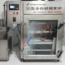 自动熏肉机烟熏炉红肠腊肠蒸煮烟熏炉厂家质量好图片