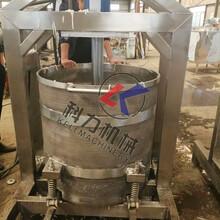 单桶液压压榨机葡萄酒液压压榨机批发厂家图片