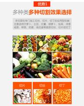 食堂专用切菜机多功能果蔬切菜机定制厂家图片