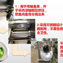 自动鱼肉鱼骨分离机鱼糜采集机定制厂家图片