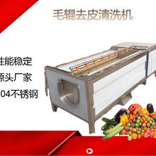不锈钢果蔬去皮清洗机,白菜菠菜去皮清洗机,果蔬去皮清洗机图片