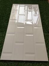 300x600黑白格釉面砖内墙砖面包砖斜边砖北欧砖图片