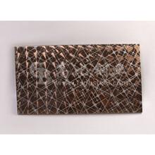 古铜不锈钢镭射板高档镭射不锈钢板蚀刻加工厂家201不锈钢报价图片