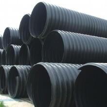 HDPE中空壁缠绕管HDPE钢带螺旋增强波纹管塑钢缠绕管钢带波纹管
