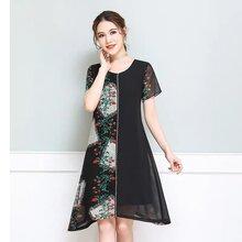 原創設計師品牌谷妍20夏5G直播帶貨夏季天絲棉麻連衣裙