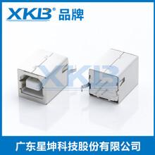 供应香港星坤短体usb2.0插座连接器黑胶插件母座USB母座XKB品牌