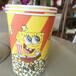 46盎司爆米花桶一次性纸桶卡通图案爆米花桶