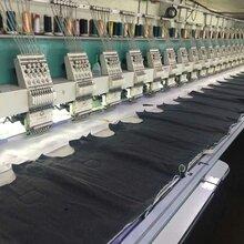 玉林出售全伺服二手繡花機,機器在繡花廠生產中圖片