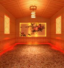青州汗蒸房建设设计汗蒸馆汗蒸材料批发图片