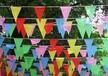 福州道路旗,福州马路彩旗,福州广告旗,广告串旗,三角彩旗