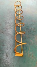 運城自行車架自行車擺放架螺旋式車架環形自行車地鎖圖片