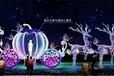 灯光展造型--富士山水晶鞋鸭子心形隧道水母春满花开海盗船海豚等灯光展览厂家供应