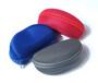 厂家批发定制EVA眼镜盒抗压太阳镜盒拉链盒字母绒花生盒