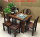古船木实木家具老船木茶桌椅组合中式功夫泡茶台小茶几茶艺桌