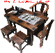 中式老船木茶桌椅組合客廳實木茶藝桌家用茶幾茶臺特價套裝家具