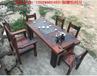 老船木茶桌简约现代茶几客厅实木喝茶茶台仿古家具功夫茶桌椅组合