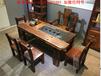 老船木茶桌椅组合实木中式功夫茶台户外阳台泡茶桌简约原木家具