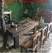 老船木茶桌椅组合复古功夫泡茶台阳台休闲茶几实木家具船木茶桌