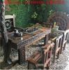 老船木茶桌组合新中式实木家具船木功夫茶台阳台小茶几休闲茶桌椅