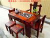 功夫茶茶桌椅组合老船木复古客厅茶台个性创意茶艺桌古典实木茶几