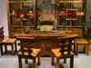 老船木茶桌椅组合古老船木龙骨海螺茶几家具船木茶台中式