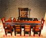 老船木茶桌龙骨大板茶桌茶台高档会所古典茶桌椅组合功夫泡茶桌