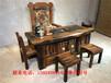 老船木茶桌椅組合實木功夫茶臺簡約客廳古典茶幾中式陽臺小茶藝桌