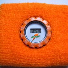 运动护腕表护手腕电子表毛巾布手圈礼品赠品定制LOGO
