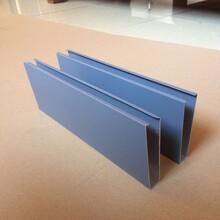 靠譜鋁晟外墻幕墻裝飾深灰色型材鋁方管造型美觀圖片