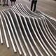 S波浪弧形转印木纹铝方通图