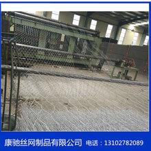 铁丝石笼网装石头铁丝网绿色铁丝石笼网