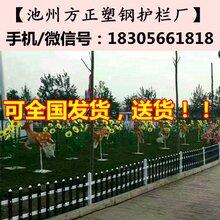 方正塑钢护栏厂:芜湖繁昌县市政公园草坪护栏图片