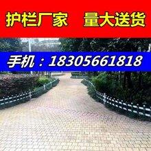 武汉洪山区草坪pvc护栏墨绿色-白色-木纹色-天蓝色图片