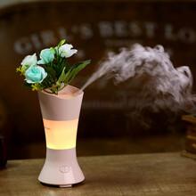 跨境爆款花仙子香薰机创意迷你七彩夜灯超声波加湿器香薰机