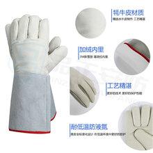 LNG液氮牛皮手套新雪丽材质液氮防护手套批发厂家