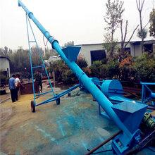 不锈钢圆管螺旋提升机食品输送螺旋提升机移动式蛟龙提升机图片