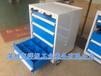 4抽重型工具柜车可调隔板工具车铁皮手推车