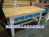 榉木平三抽工作桌实木操作台重型维修工作台打包台