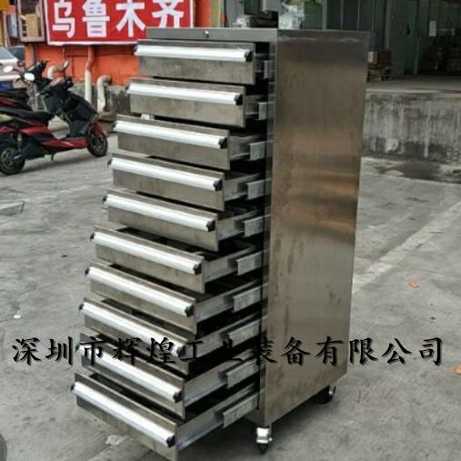 重型不锈钢移动工具车深圳钳工工具车定做