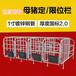 厂家直销限位栏母猪保胎栏养猪设备定位栏猪用限位栏