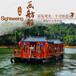 山东莱芜画舫船厂家仿古船舫景区观光游玩做旧玻璃钢木船