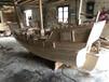 金華畫舫船廠家出售6米海盜仿古帆船公園景觀裝飾紅船